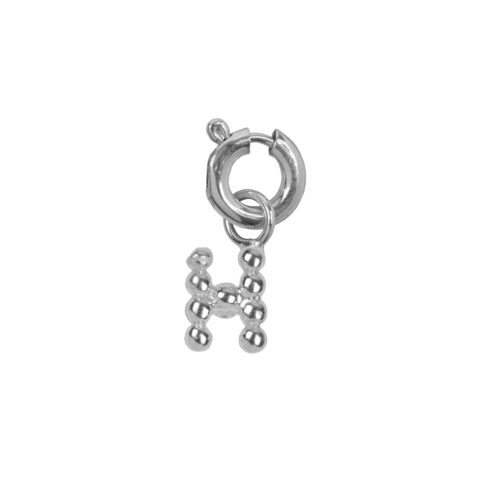 C2084 Silver Letter H Charm H Silver 12,95