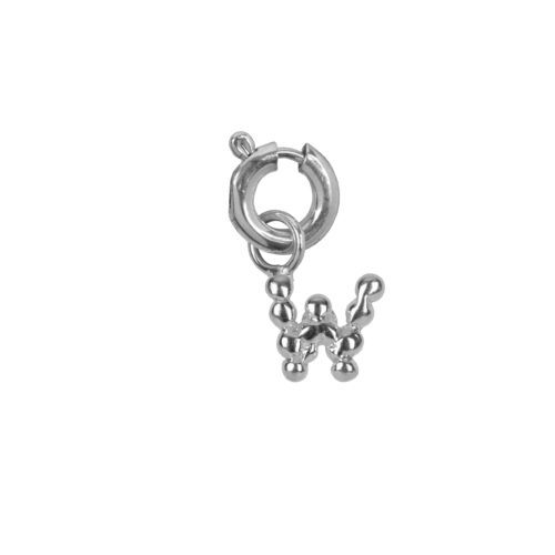 C2084 Silver Letter W Charm W Silver 12,95