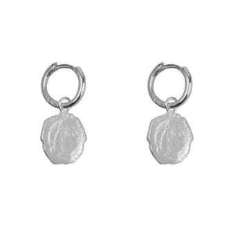 E2059 Silver Ten Cent Small Hoop Earring Silver 34,95