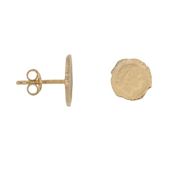 E2059a Gold Ten Cent Stud Earring Gold Plated 44,94
