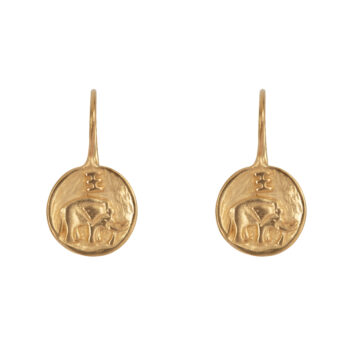 E2062 Gold Elephant Hook Earring Gold Plated 44,95