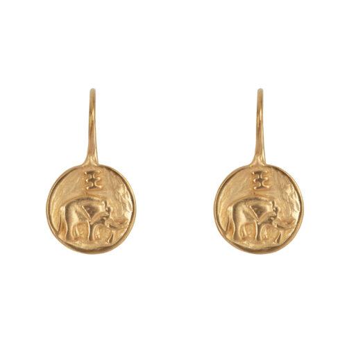 E2062 Gold Elephant Hook Earring Gold Plated 44,95
