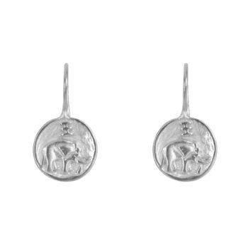 E2062 Silver Elephant Hook Earring Silver 34,95