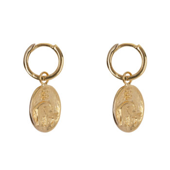 E2063 Gold Elephant Small Hoop Earring Gold Plated 44,95