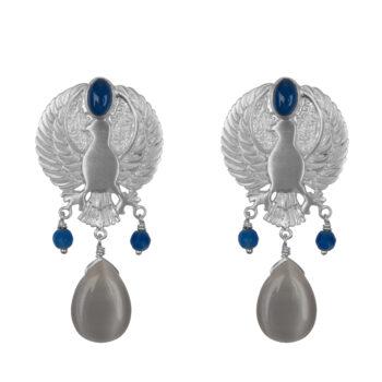 E2070 Silver Eagle Grey Stone Stud Earring Silver 89,95