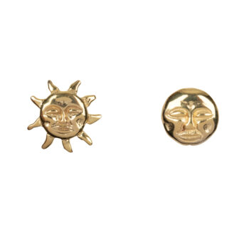 E2075a Gold Sun and Moon Stud Earring Gold Plated 39,95