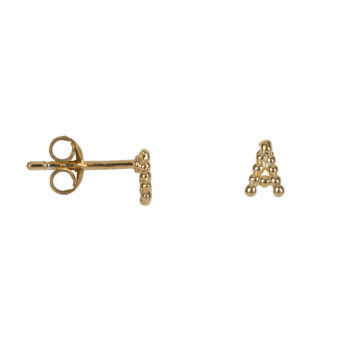 E2082 Gold Letter A Letter Stud A Earring Gold Plated 24,95