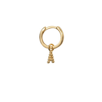 E2083 Gold Letter A Small Hoop A Earring Gold Plated (SINGLE PIECE) 14,95