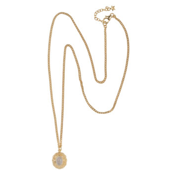 N2058 Gold Antique Moonstone Necklace Gold Plated 99,95