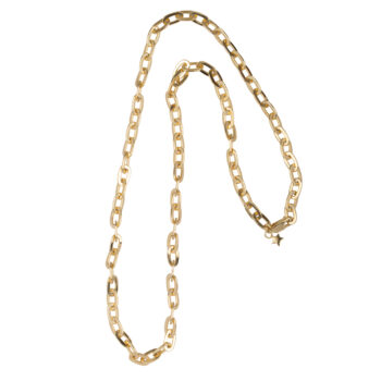 N2069 Gold Chunky Chain Necklace Gold Plated 149,95