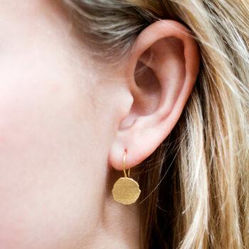 Ten Cent Reversed Hook Earring