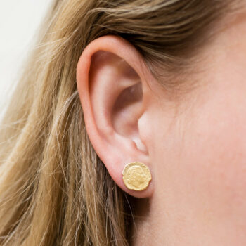 Ten Cent Stud Earring
