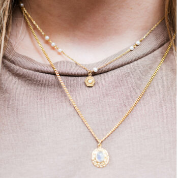 Big Vintage Pearl Coin Pearls Necklace