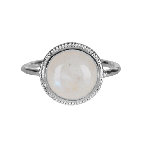 R2055 Silver Size 14 Moonstone Vintage Setting Ring Silver 49,95