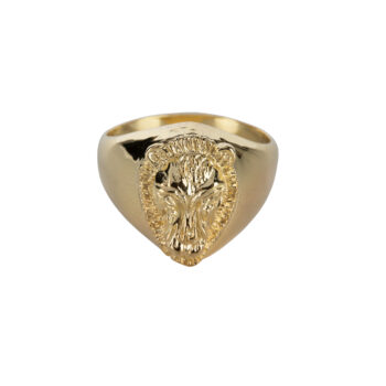 R2074 Gold Lion Signet Ring Gold Plated 69,95
