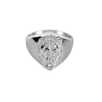 R2074 Silver Lion Signet Ring Silver 59,95