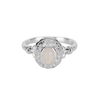 R5058 Silver Antique Moonstone Ring Silver 49,95