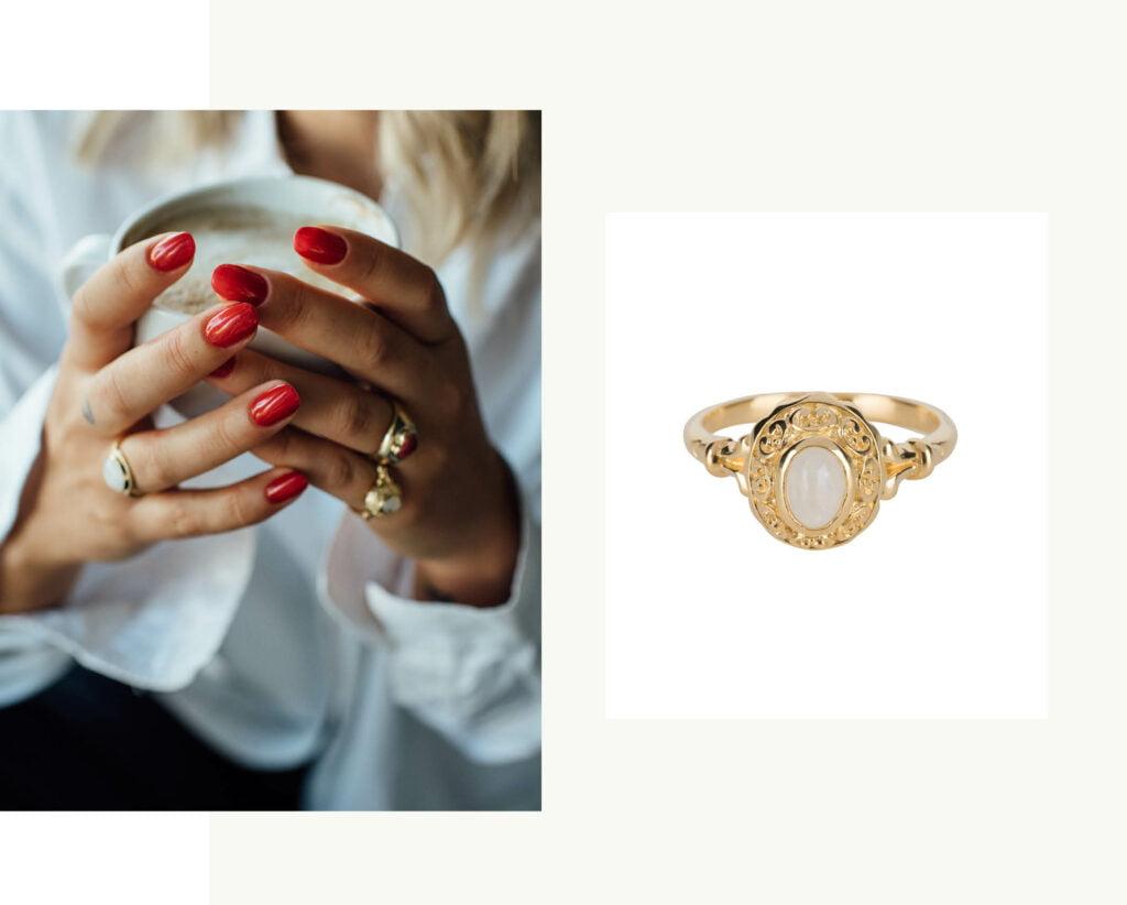 antique moonstone ring