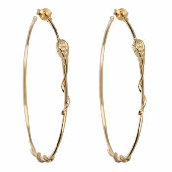 E2108 Gold Snake Hoop Stud Earring Gold Plated 89,95
