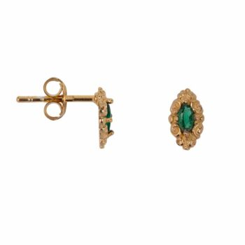 E2112 Gold GREEN Antique Drop Stud Earring Gold Plated Green 44,95
