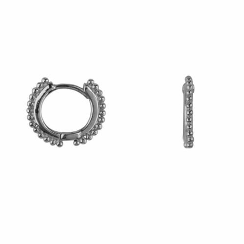 E2114 Silver Balls on a small Hoop Earring Silver 44,95