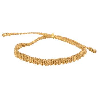 B2160 Gold GOLD Braided Plain Bracelet Gold Plated GOLD