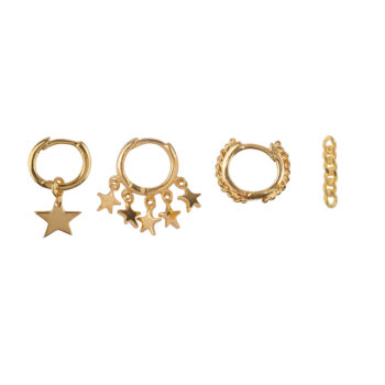 E2176 Gold Mix and Match 4 Star Chain Mix Gold Plated (4 pieces)