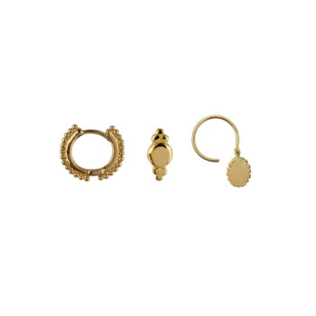 E2180 Gold Mix and Match 8 Dots Mix Gold Plated (3 pieces)